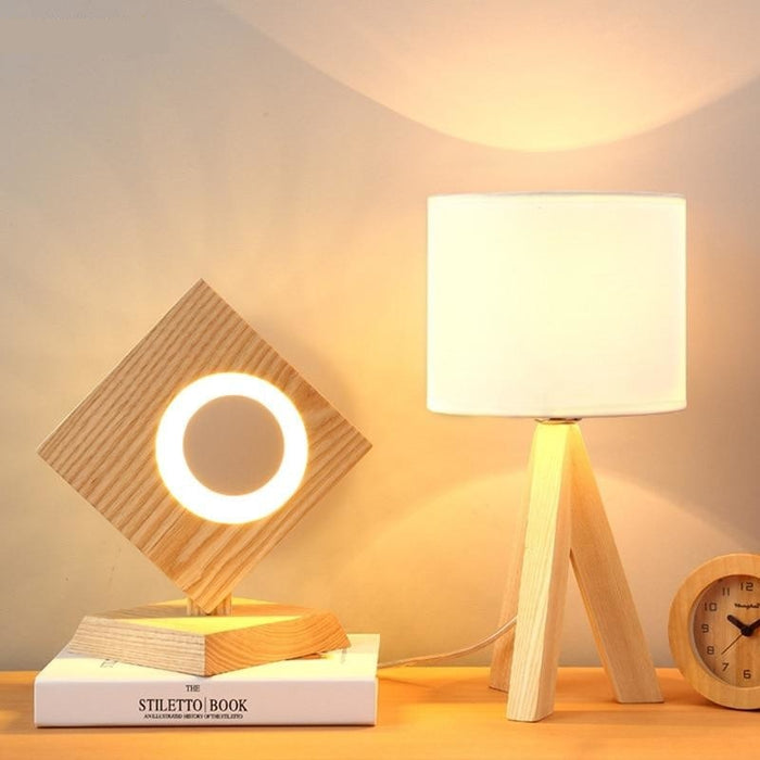 Wooden Desk Lamp - Best Goodie Shop