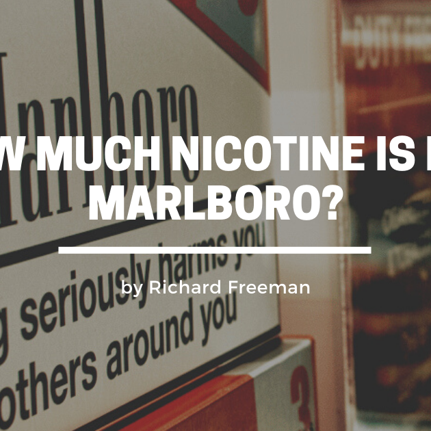 How Much Nicotine Is In A Marlboro?