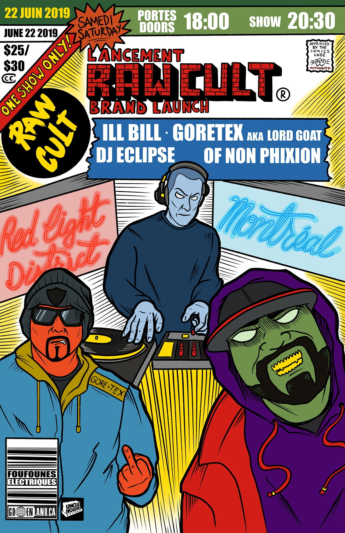 RAW CULT Brand Launch ft. ILL Bill, Lord Goat & DJ Eclipse