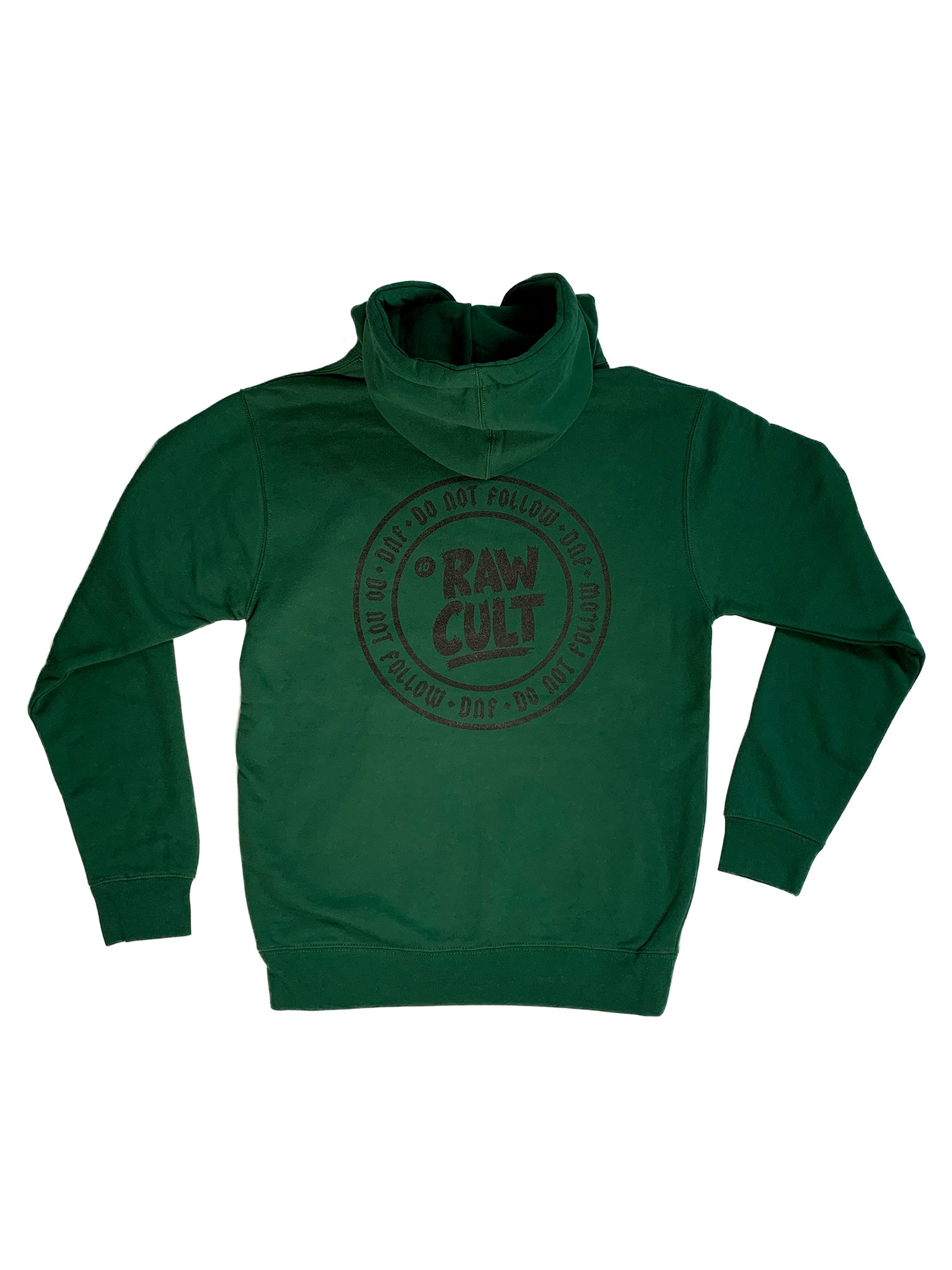 RAW CULT | Do Not Follow/DNF Ganja Green Logo Hoodie (Black Print)
