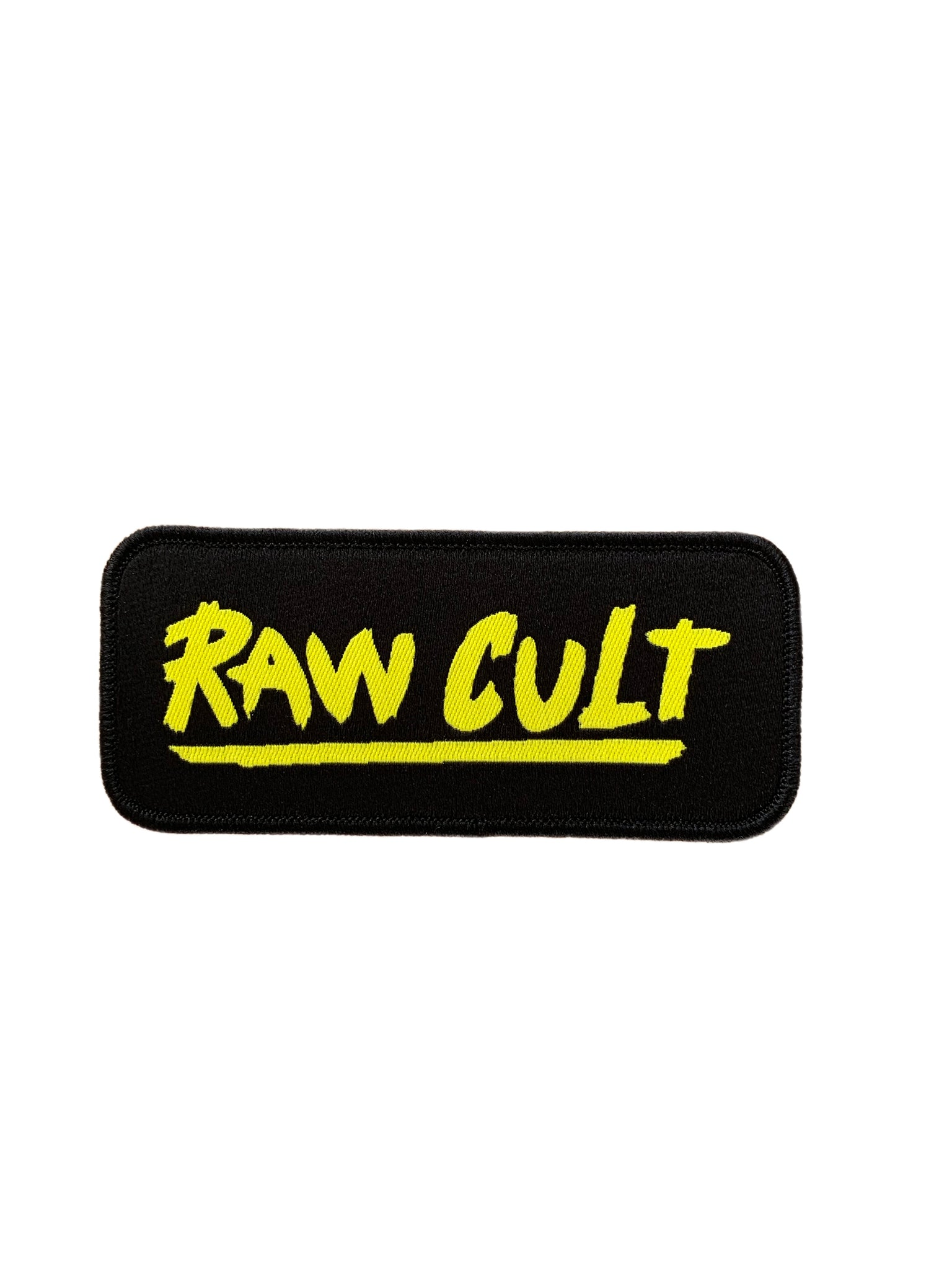 Yellow logo patch