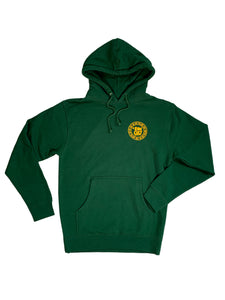 RAW CULT | Do Not Follow/DNF Ganja Green Logo Hoodie (Yellow Print)
