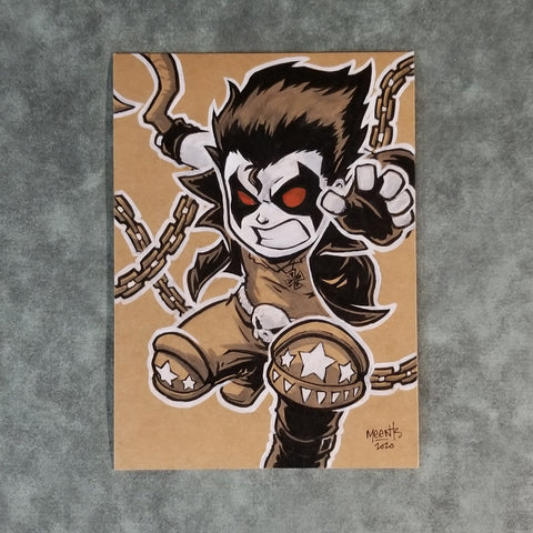 Lobo 5x7 Brown Paper Originals