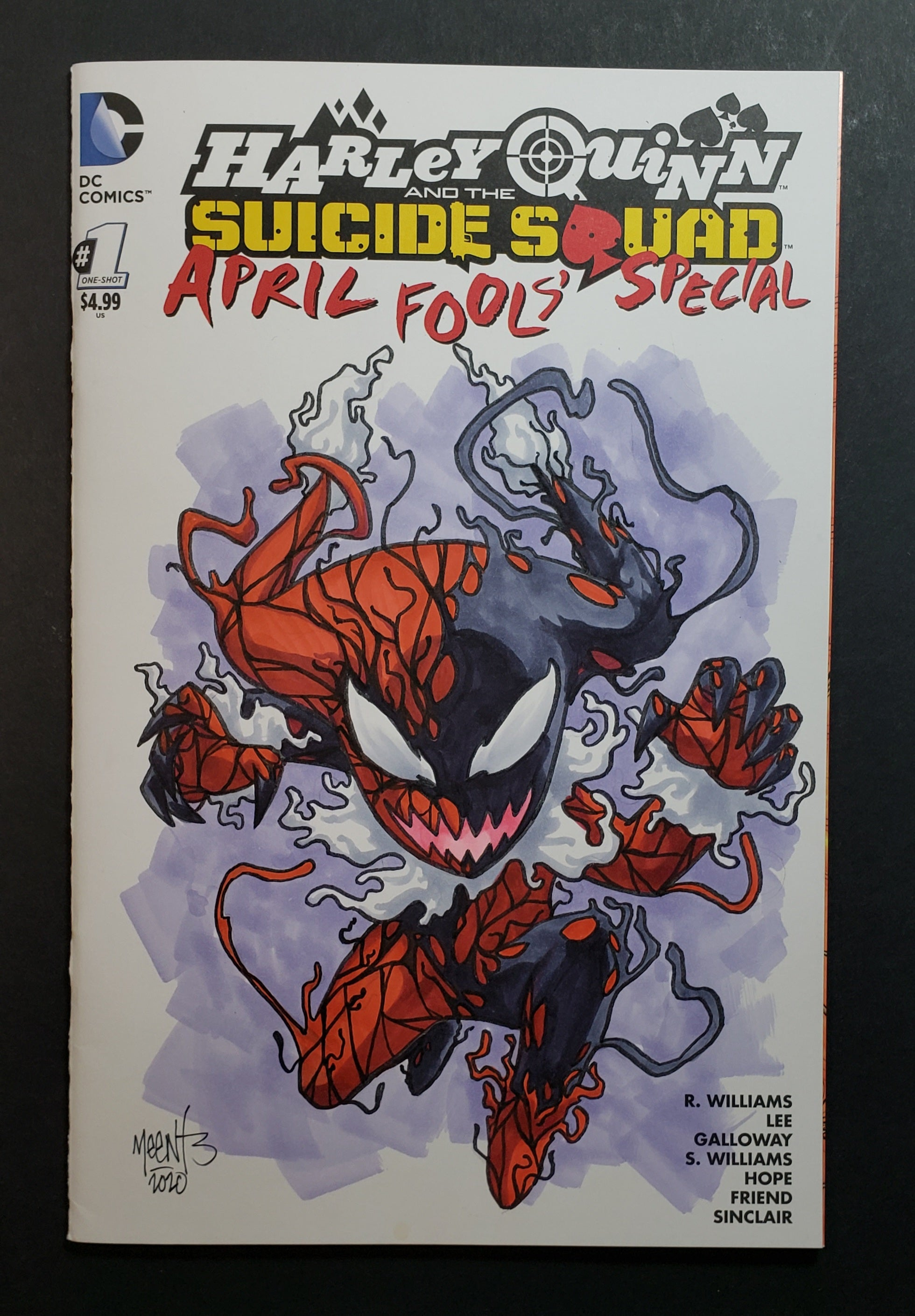 Carnage Harley Quinn Comic Sketch Cover