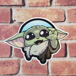 "LIMITED EDITION 3"" Baby Yoda- Sticker"