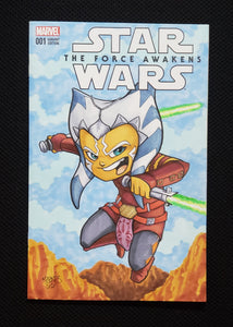 Ahsoka Tano Comic Sketch Cover