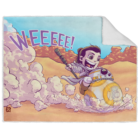 BB8 Ride - Graphic - 50x60 Sherpa Blanket