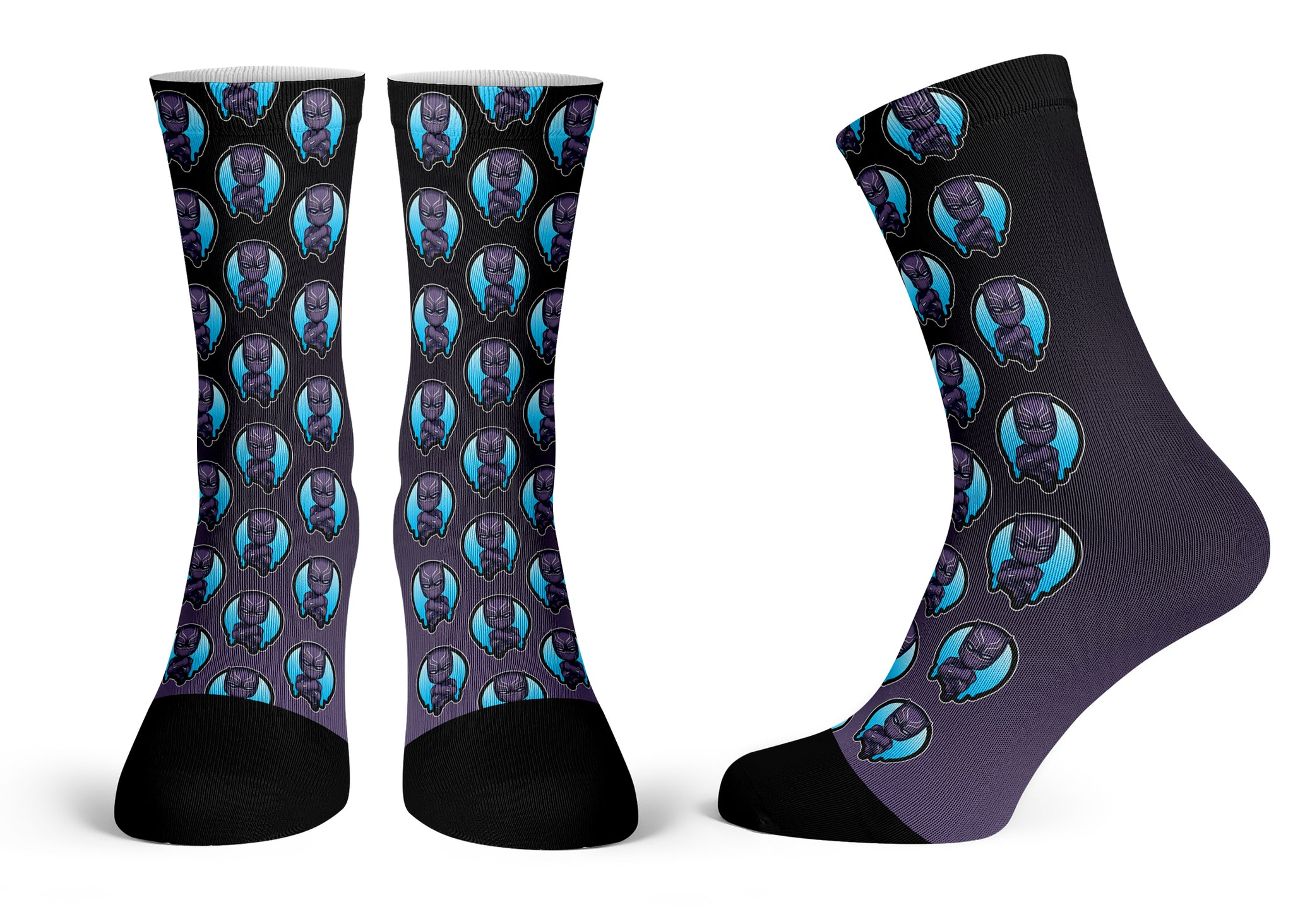 Black Panther - Streetwear Full Poly Crew Socks
