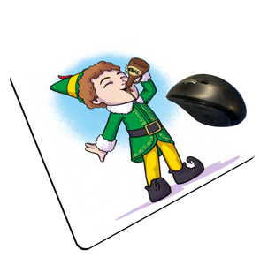"Buddy The Elf - Custom ""Thin"" Mouse Pad"