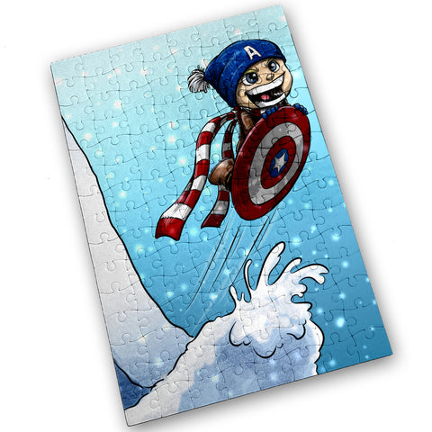 Cap Sledding - 120 Piece Jigsaw Puzzle