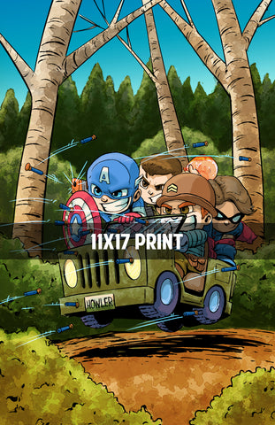 Captain America and the Howling Commandos - 11x17 Print