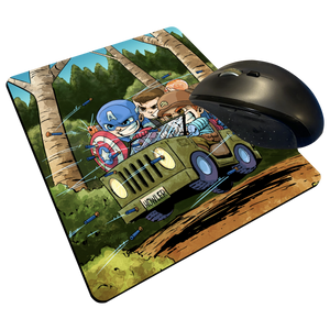 "Cap Commandoes - Custom Graphic ""Thin"" Mouse Pad"