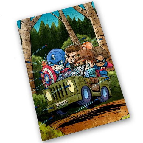 Cap Commandoes - 120 Piece Jigsaw Puzzle