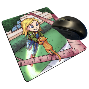 "Captain Marvel - Custom Graphic ""Thin"" Mouse Pad"
