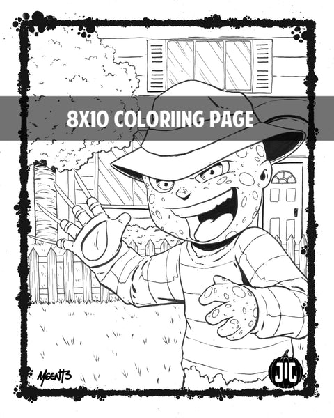 Tykes Horror Coloring Pages- Set of 5