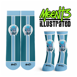 Glaceon - Character - Streetwear Full Poly Crew Socks