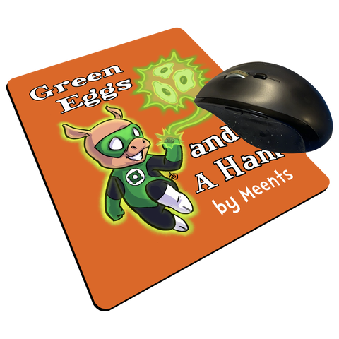 "Green Eggs & A Ham - Custom Graphic ""Thin"" Mouse Pad"