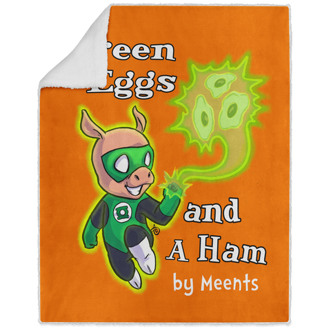 Green Eggs & A Ham - Graphic - 50x60 Sherpa Blanket