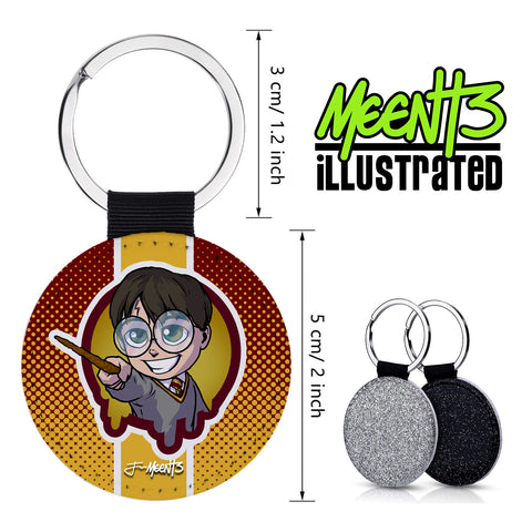 Harry Potter - Spotlight Series - PU Leather Keychain Round with Keyring