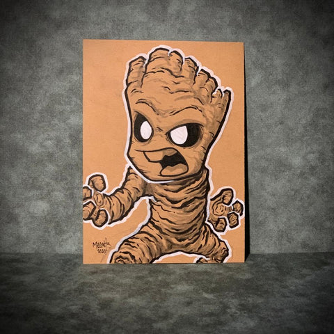 Groot 5x7 Brown Paper Original