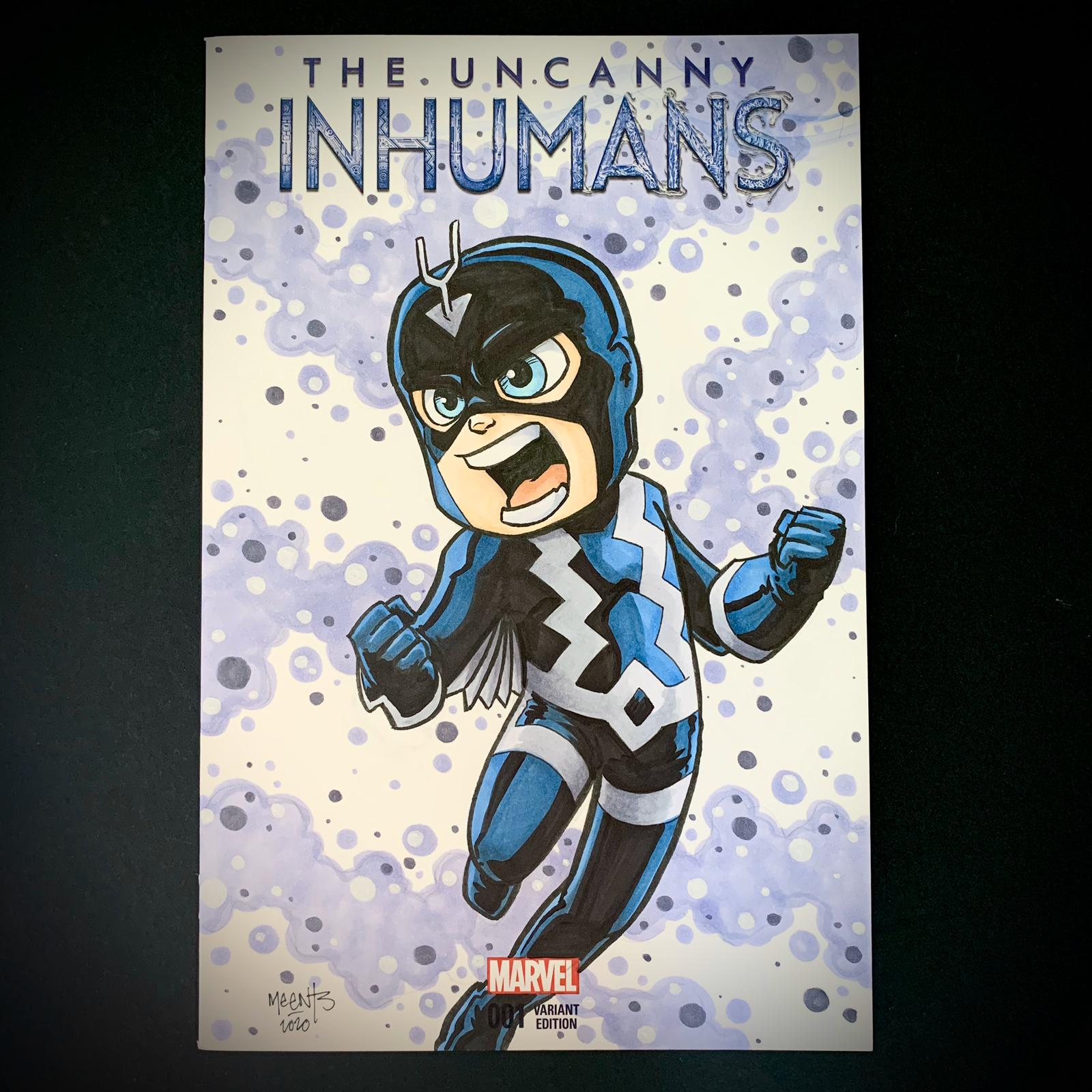 Black Bolt Comic Sketch Cover