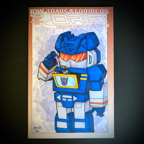Soundwave Comic Sketch Cover