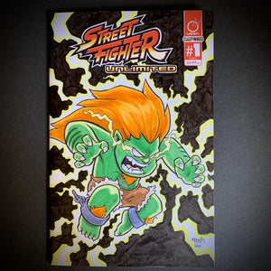 Blanka Front and Back Comic Sketch Cover