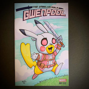 Gwenpool Pikachu Comic Sketch Cover