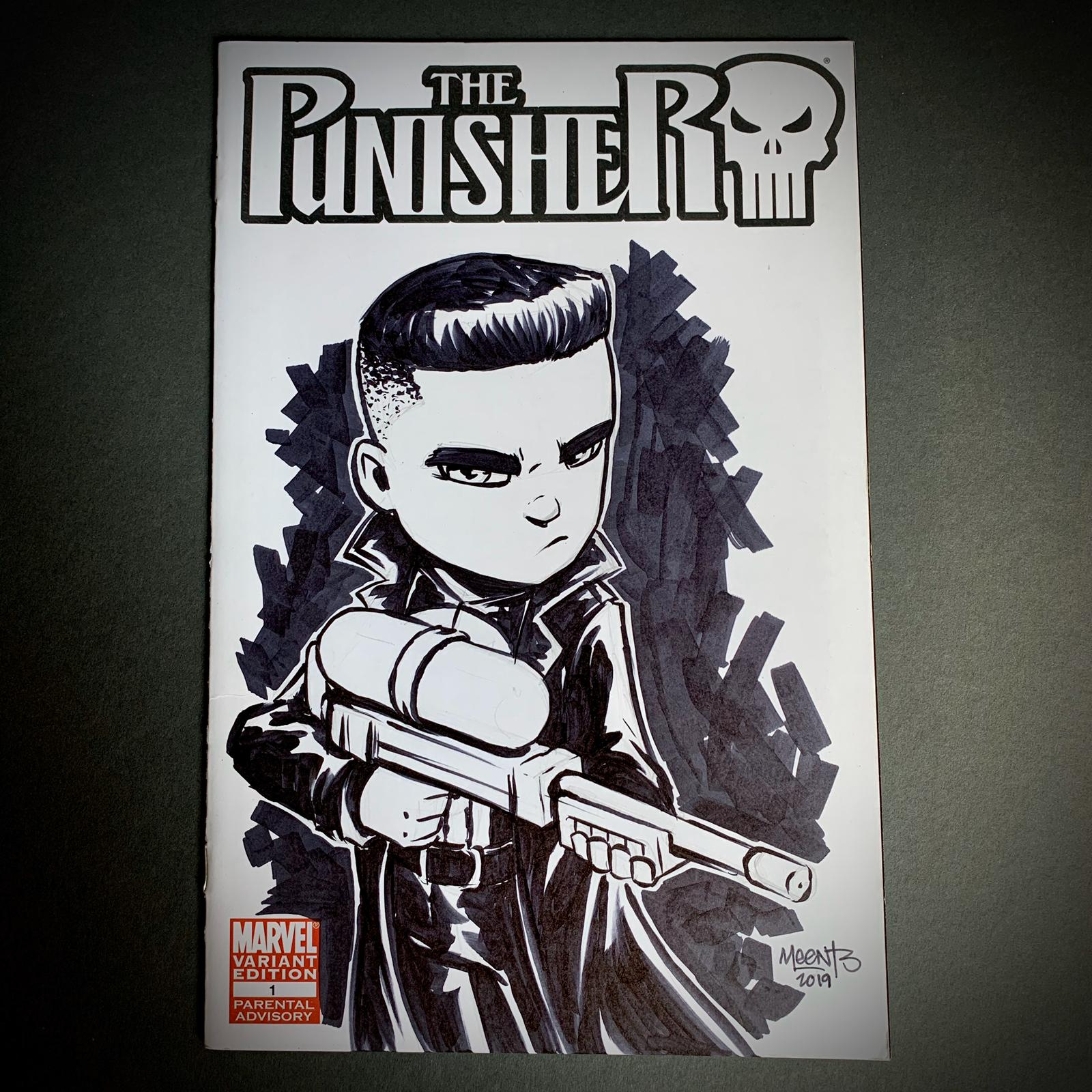 Punisher Comic Sketch Cover