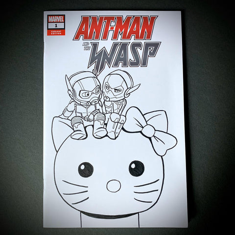 Antman and Wasp Comic Sketch Cover
