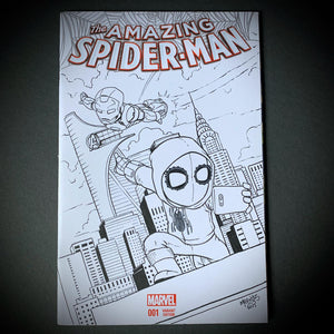 Spiderman Homecoming Comic Sketch Cover