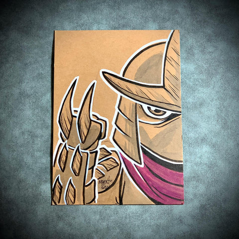 Shredder/Splinter set 5x7 Brown Paper Originals