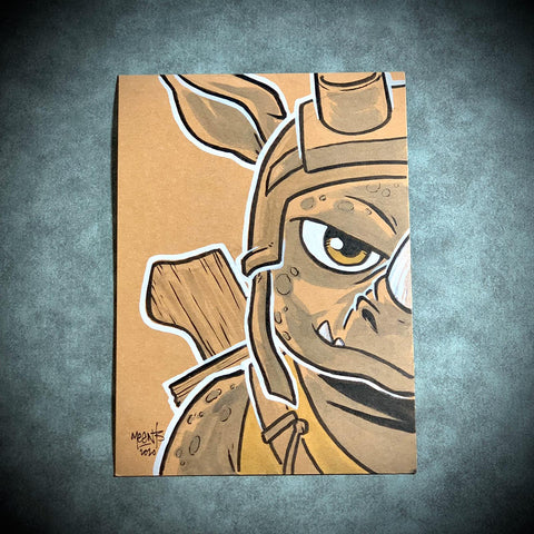 Rocksteady/ Bebop set 5x7 Brown Paper Originals