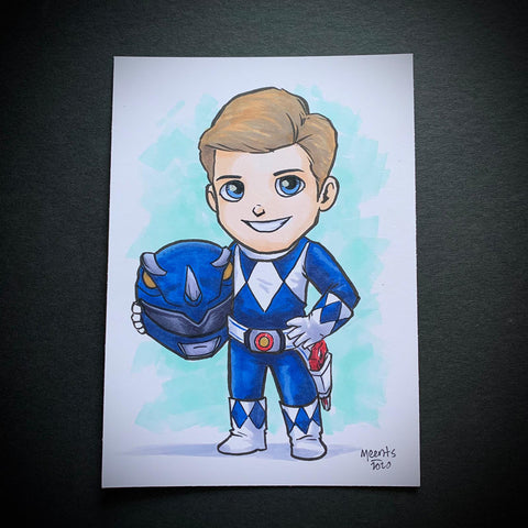 Blue Power Ranger (Billy) 5x7 Color Original