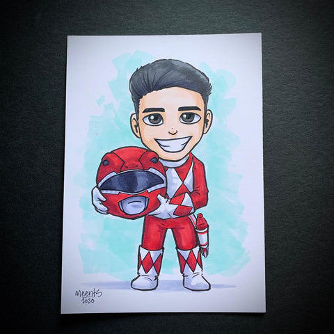 Red Power Ranger (Jason) 5x7 Color Original