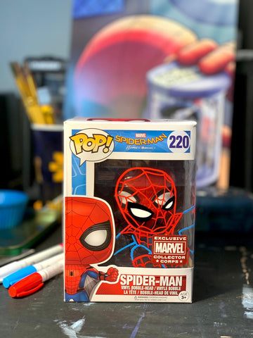 Spider-Man Funko Pop Mark-Up