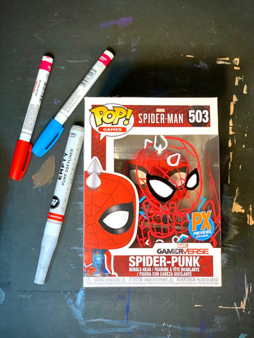 Spider-Punk Funko Pop Mark-Up