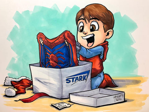 Spiderman Christmas Morning