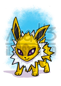Jolteon - 5x7 Mini Print