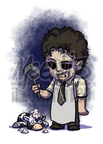 Leatherface - 5x7 Mini Print