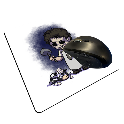 "Leatherface - Custom ""Thin"" Mouse Pad"