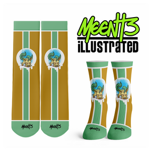 Leafeon - Character - Streetwear Full Poly Crew Socks