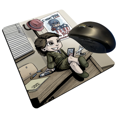 "Peggy - Custom Graphic ""Thin"" Mouse Pad"