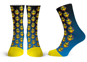 Pika Pattern - Streetwear Full Poly Crew Socks