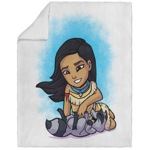 Pocahontas - ART - 50x60 Blanket Sherpa Fleece