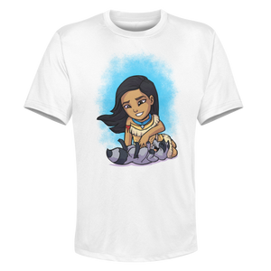 Pocahontas - White Performance Graphic Tee