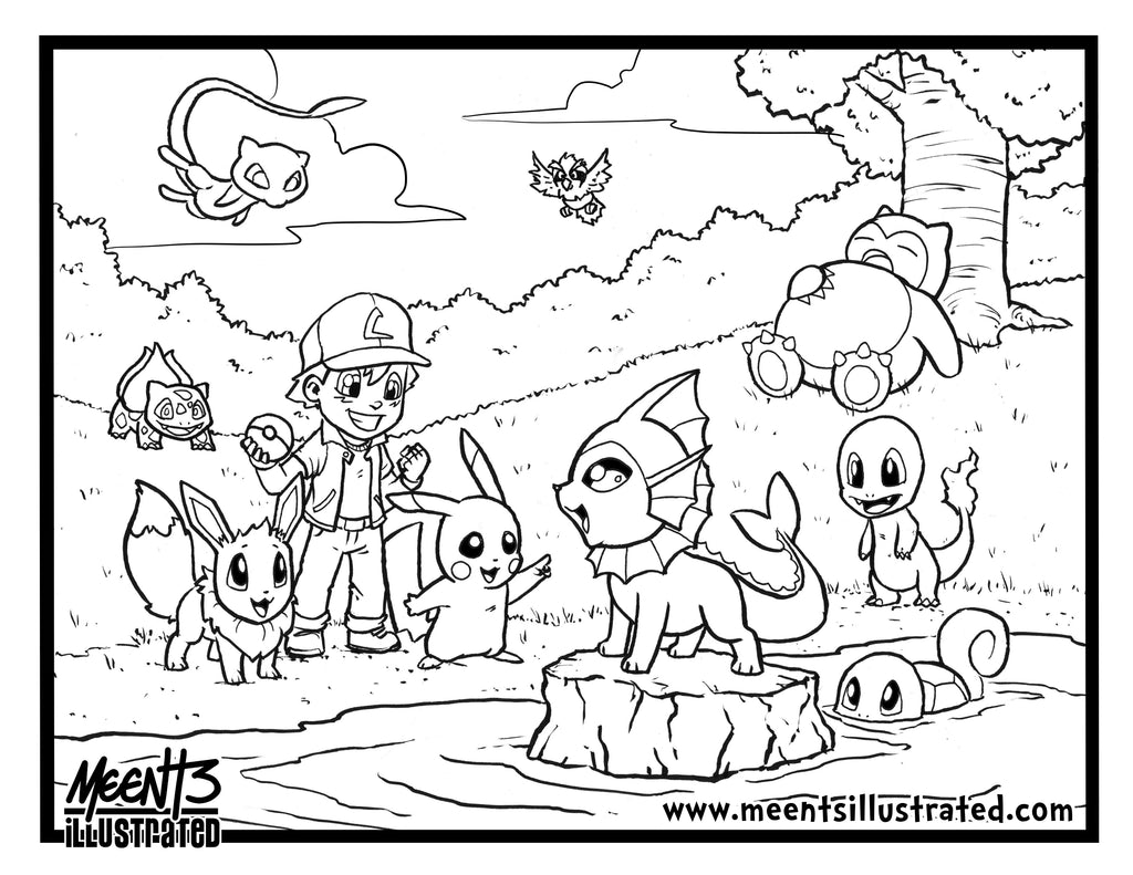 FREE Pokemon Coloring Page- Color Stream Event Page