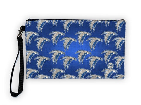 Falcons Pattern - Meents Illustrated Authentic Large Pencil/Device Bag
