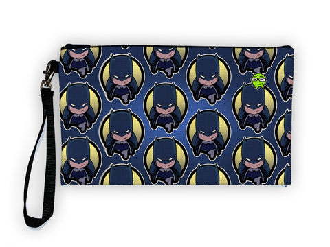 Batman Pattern - Meents Illustrated Authentic Large Pencil/Device Bag