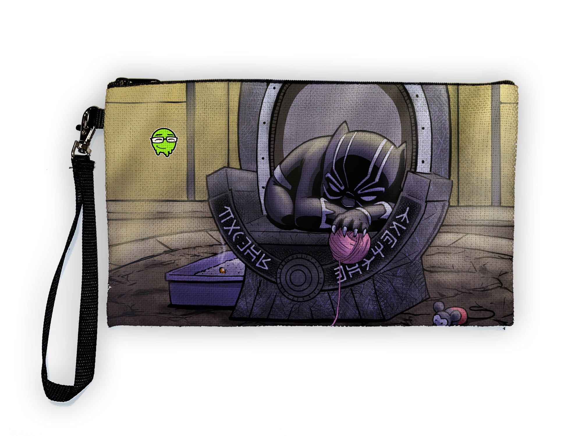 Black Panther - Meents Illustrated Authentic Large Pencil/Device Bag